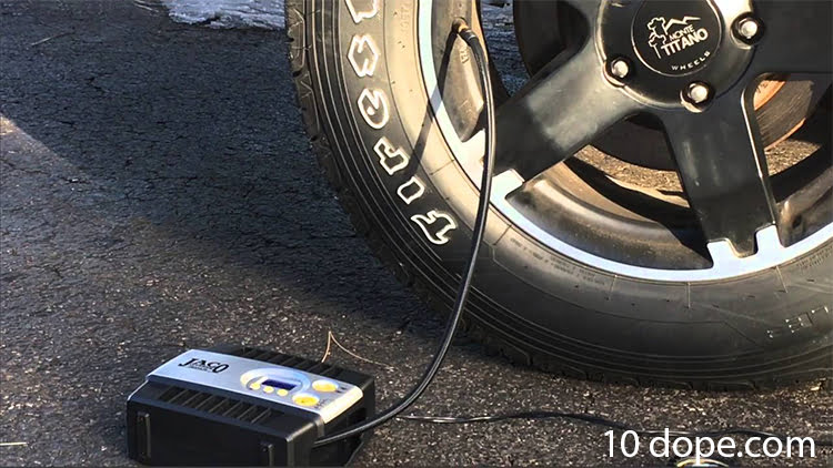 how to use an air compressor to fill a car tires